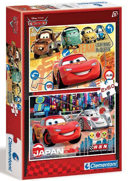 Puzzle Clementoni 2 x 60 dílků - CARS 2 07103