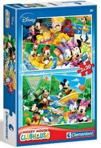 Puzzle Clementoni 2 x 60  dílků  - Mickey Mouse   07106