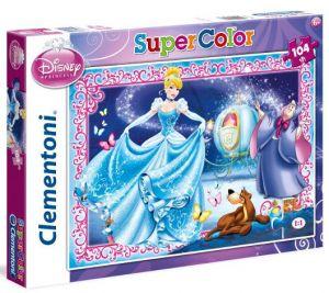 Puzzle Clementoni Supercolor 104 dílků - Popelka