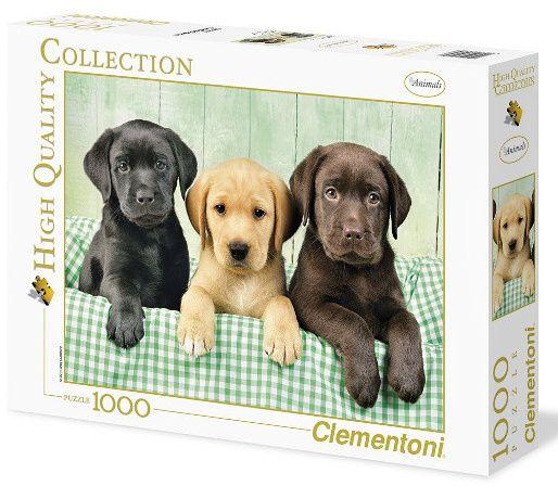 Puzzle - Clementoni Tři labradoři - HQC 1000 dílků