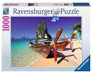 1000 dílků  -  Karibská pláž  -   puzzle Ravensburger
