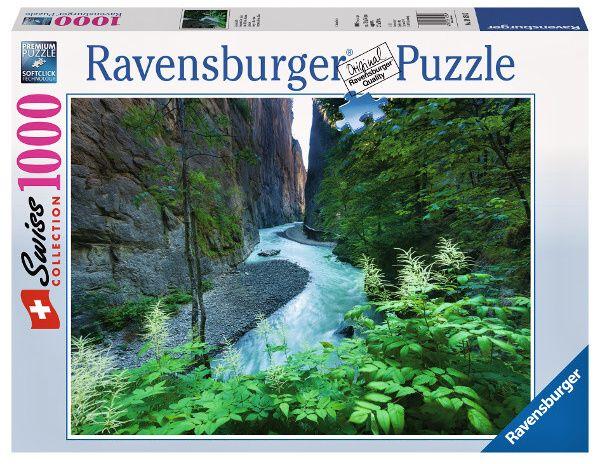 puzzle Ravensburger 1000 dílků - soutěska Aareschlucht 193547