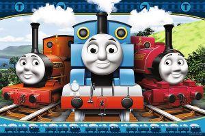 TREFL Maxi puzzle pro děti 14231 Mašinka Tomáš 24 dílků