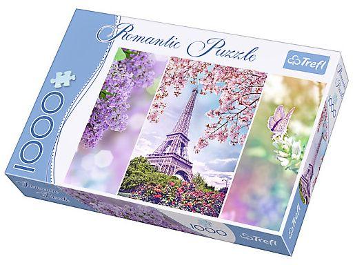 TREFL Puzzle 1000 dílků Romantic - 10409 - Jaro v Paříži