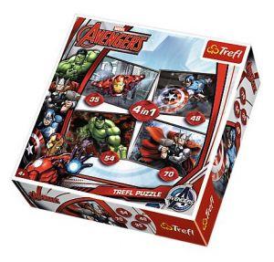 Trefl Puzzle 34245 Avengers 4 v 1, 35, 48, 54, 70 dílků