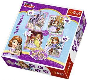 Trefl Puzzle 34247 Sofie První 4v1 35 48 54 70 dílků