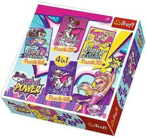 Trefl Puzzle 34251 Barbie 4v1 35 48 54 70 dílků