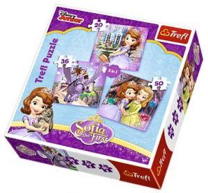 Trefl Puzzle 34814 Sofie první 3v1 20 36 50 dílků