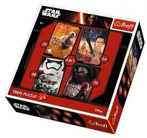 35, 48, 54 a 70  dílků -  4v1  Star Wars  -  puzzle   Trefl  34263