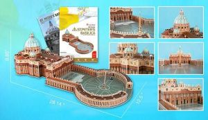3D puzzle CUBICFUN Bazilika svatého Petra 144 dílků Cubic Fun