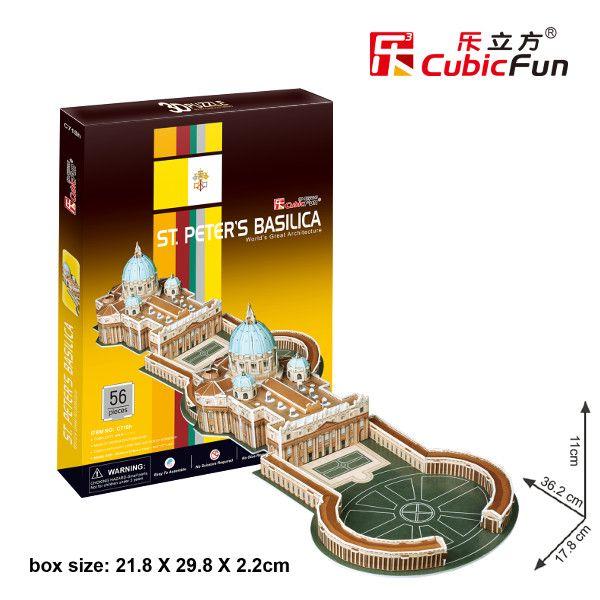 3D puzzle CubicFun Bazilika svatého Petra 56 dílků Cubic Fun