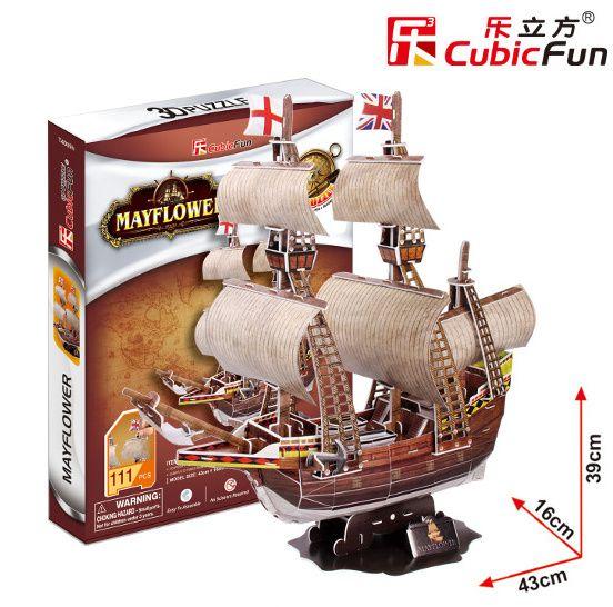 3D puzzle CubicFun Loď Mayflower 117 dílků Cubic Fun