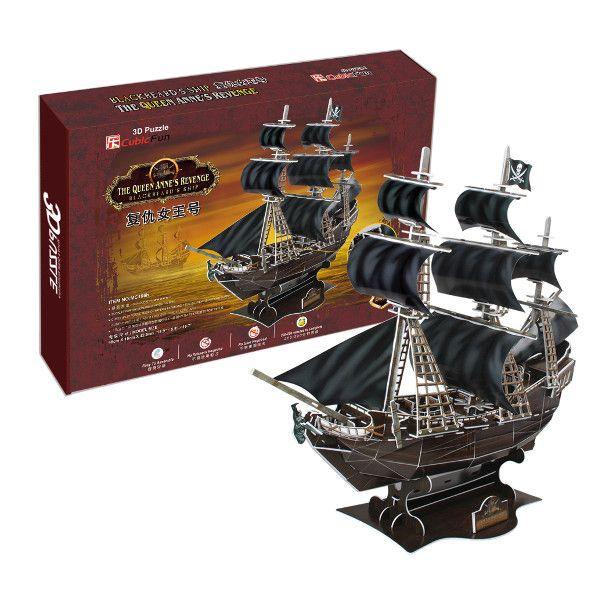 3D puzzle CubicFun Pirátská loď Queen Anne´s Revenge Cubic Fun