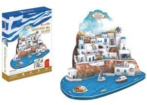3D puzzle CubicFun Santorini 129 dílků