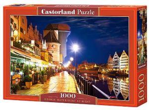 Castorland  puzzle  1000 dílků Nábřeží v Gdaňsku v noci  103379