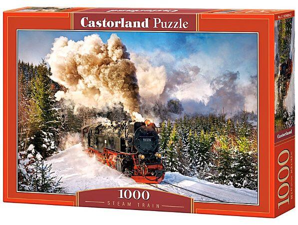 Castorland puzzle 1000 dílků Parní vlak 103409