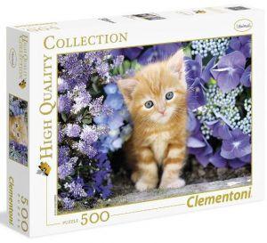 Clementoni puzzle 500 dílků Koťátko 30415