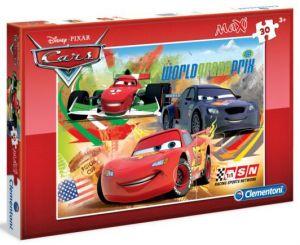 Podlahové puzzle Clementoni 30  dílků MAXI  - Cars 07426