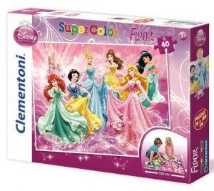 Podlahové puzzle Clementoni 40  dílků MEGA  - Princezny  25441