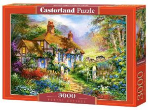 Puzzle Castorland 3000 dílků  - Dům v lese 300402