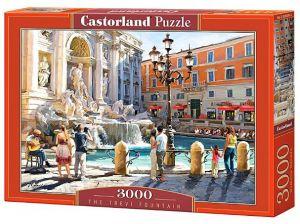 Puzzle Castorland 3000 dílků  -  Fontána di Trevi Řím