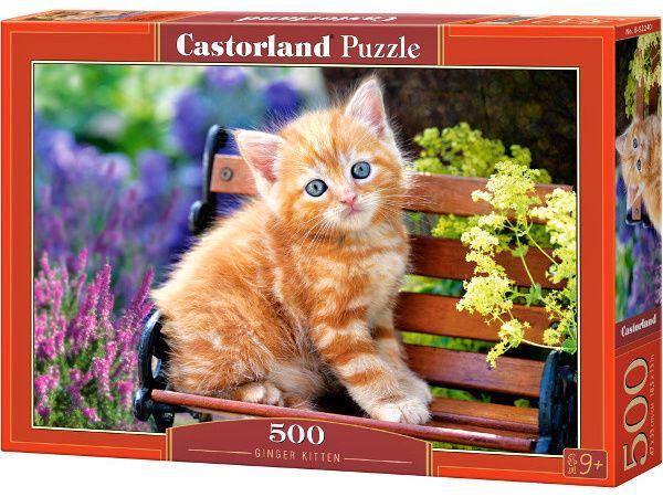 Puzzle Castorland 500 dílků Zrzavé koťátko 52240