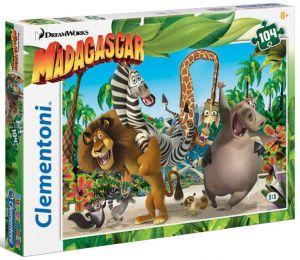 Puzzle Clementoni 104 dílků  -  Madagaskar 27941