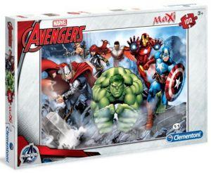 Puzzle Clementoni  MAXI  - 100 dílků  -  Avengers  07516