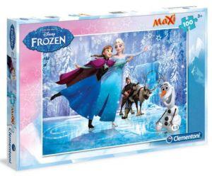 Puzzle Clementoni  MAXI  - 100 dílků  -  Frozen  07517