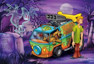 Puzzle mini 54 d - Trefl - Scooby Doo 19422
