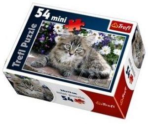 Puzzle mini 54 d - Trefl - Sladká štěňátka / kočičky 19427