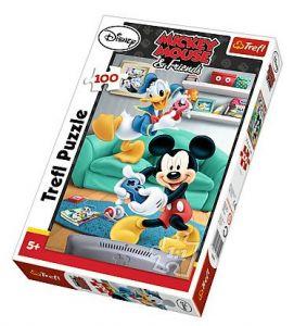 Puzzle Trefl 100 dílků - Mickey a Donald 16291