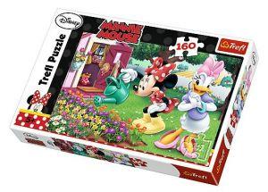 Puzzle Trefl 160 dílků - Minnie - zalévání květin 15328