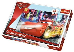 Puzzle Trefl 24 MAXI dílků  -  CARS 2 - nočními ulicemi  14235