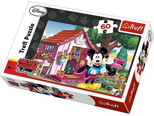 Puzzle Trefl 60 dílků - Minnie v zahradě 17285