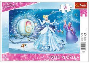 Puzzle Trefl v rámečku ( rámkové ) 15 dílků  - Popelka   31229