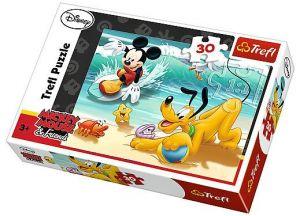 Trefl puzzle  30 dílků  - Mickey a Pluto na pláži - 18207