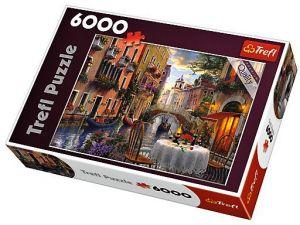 TREFL Puzzle Michelangelo Romantická večeře  6000 dílků - 65003