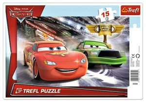 15 dílků Cars 2 - deskové puzzle Trefl 31230
