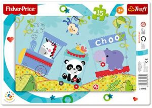 15 dílků Choo - Rainbow Forest  - deskové puzzle Trefl 31195