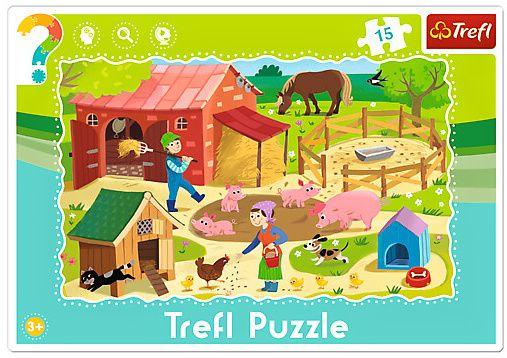 15 dílků Farma - puzzle v rámečku ( rámkové ) puzzle Trefl 31216