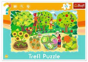 15 dílků Zahrada - deskové puzzle Trefl 31218