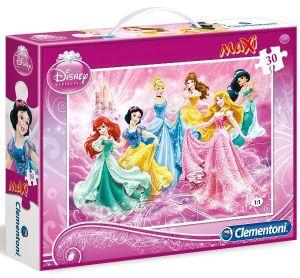 Podlahové puzzle Clementoni 30  dílků MAXI  - Princezny 07423