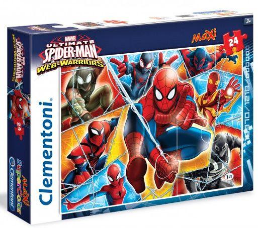 CLEMENTONI Dětské Maxi puzzle 24 dílků Spiderman 24053