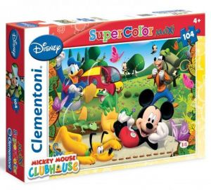 CLEMENTONI Dětské MAXI puzzle Mickey  104 dílků 23974