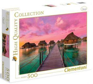 CLEMENTONI Puzzle 500 dílků Barevný  ráj  35016