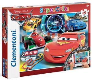Clementoni puzzle Supercolor 60 dílků s aplikací  Cars  26939