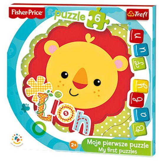 Deskové puzzle Trefl - 6 dílků - Baby Fun - Lvíček - 36120
