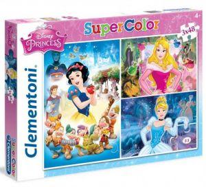 Dětské puzzle Clementoni  - 3 x 48 dílků  -  Princezny  25211