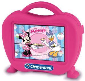 Kubus Clementoni - Minnie Mouse  - 6 obrázkových kostek v kufříku  40653